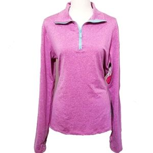 1/4 Zip Pullover Performance Top Size L